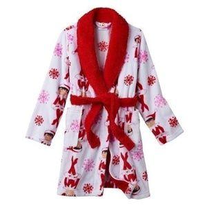 ELF ON THE SHELF Plush Fleece Robe Christmas Sz 4